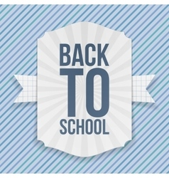 Back to school paper emblem vector