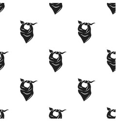 cowboy scarf icon in black style isolated on white vector image