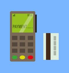 terminal credit card vector image
