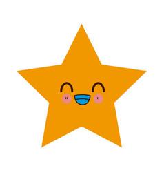 kawaii yellow star winner image vector image