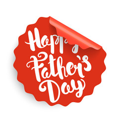 Happy fathers day label vector