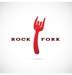 Rock Fork Concept Symbol Icon or Label vector image