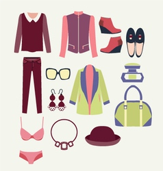 Flat clothes icon fashion clothes vector