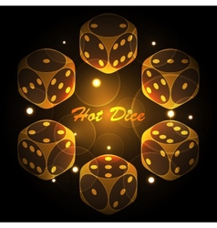 Hot dice background vector