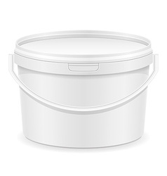 Plastic bucket for paint 02 vector