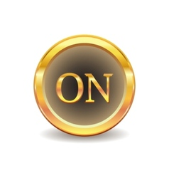 turn onbutton vector image