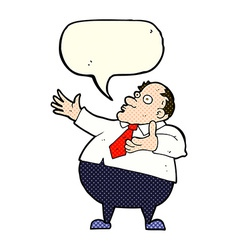 Cartoon exasperated middle aged man with speech vector