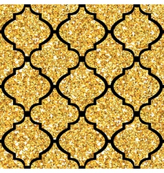 Golden tile glitter background - seamless pattern vector