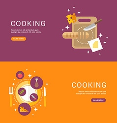 Cooking concept bread on a cutting board served vector