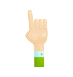 Forefinger up gesture icon cartoon style vector
