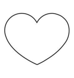 line heart icon vector image