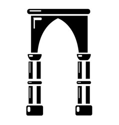 Archway construction icon simple black style vector