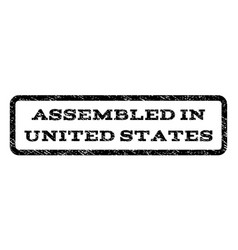 assembled in united states watermark stamp vector image