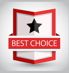 best choice badge with on white background vector image vector image