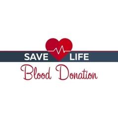 Blood donation banner medical vector