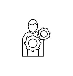Business management man with tools icon vector