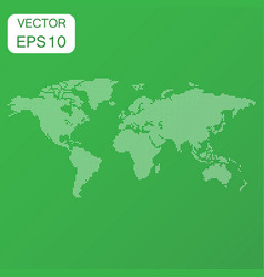 dotted blank world map icon business concept vector image