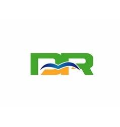 Dr company linked letter logo vector