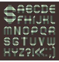 Font from spindrift scotch tape - Roman alphabet vector image