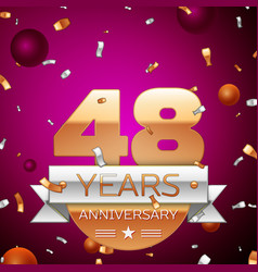 Forty eight years anniversary celebration design vector