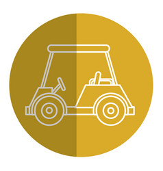 Golf car isolated icon vector