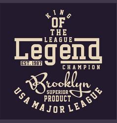 Graphic league legend champion vector
