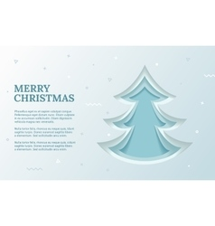 Green christmas tree made of paper original vector