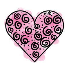 heart love romantic icon vector image vector image