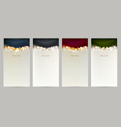 holiday set of four christmas shining abstract vector image vector image