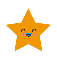 kawaii yellow star winner image vector image