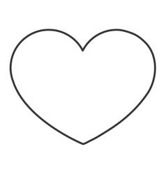 line heart icon vector image