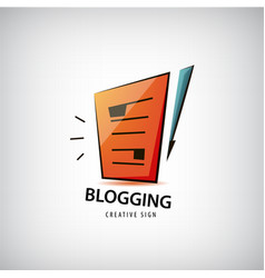 logging writing freelance logo vector image vector image