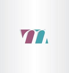 logotype m logo letter m sign symbol vector image