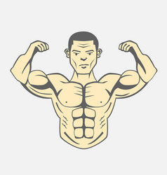 Men bodybuilding fitness lifestyle vector