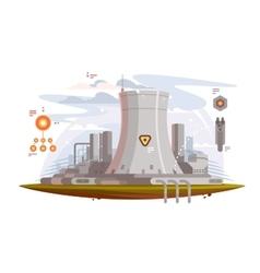 Powerful nuclear reactor vector