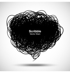 Scribble black bubble for your design vector image
