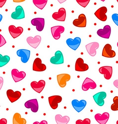 Seamless fun colorful heart shape pattern over vector