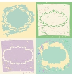 Set backgrounds and frames in pastel colors vector image vector image