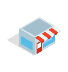 Shop icon isometric 3d style vector