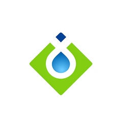 Square abstract water drop logo vector
