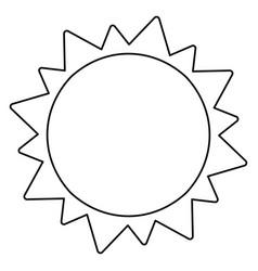 Sun solar system astronomy outline vector