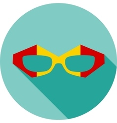 Super hero mask glasses collection Flat style vector image vector image