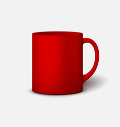 template ceramic clean mug vector image