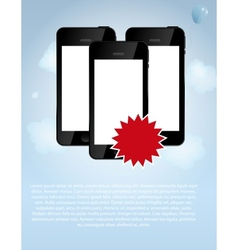 template for smart phone and mobile phone company vector image