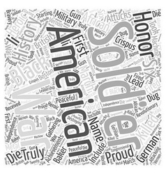 The proud black american soldier word cloud vector