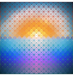 Triangular background of dawn vector