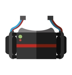 Virtual reality glasses wearable device shadow vector