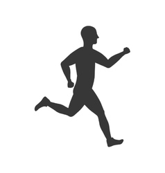 Sport man running fitness icon graphic vector