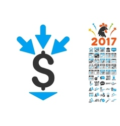 Integrate payment icon with 2017 year bonus vector