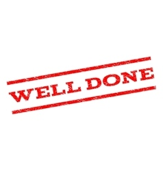 Well Done Watermark Stamp vector image